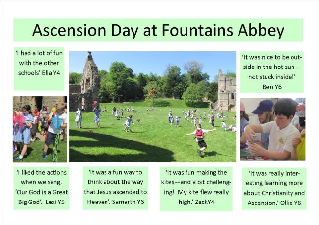 Ascension day at Fountains Abbey 25.5.17