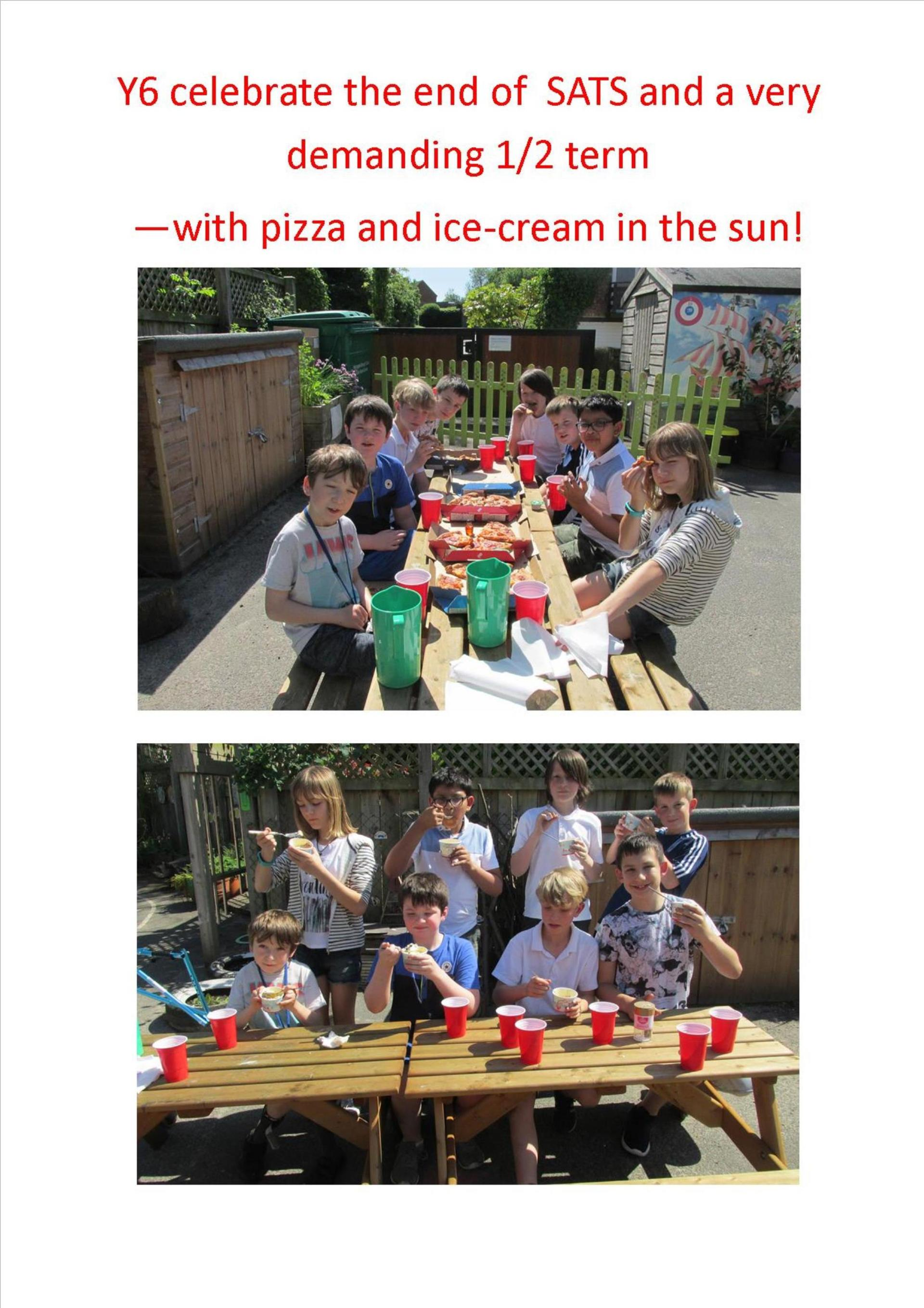 Year 6 SATS pizza n ice-cream(1)